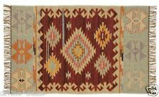 Pottery Barn Dunham Kilim Rug 8  x 10 New Indoor Outdoor eco -friendly Authentic