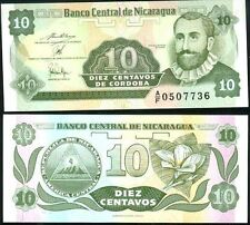 NICARAGUA billet neuf de 10 CENTAVOS Pick169 F.H. CORDOBA petit format 1991