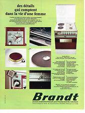 PUBLICITE  1974  BRANDT    cuisinière gazinière éléctroménager