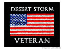New listing Desert Storm Vet Military Patch embroidered iron-on Biker American Flag Usa new