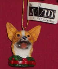 Welsh Corgi Dog Head Ornament - from the Jwm Collection Retired