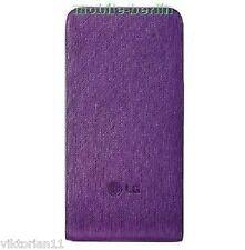 Original LG Etui Hülle Lila Leder Tasche Handy KP500 KU990 KM900 KF750 BL20 etc