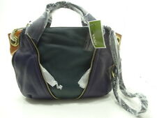 NWT ORYANY SATCHEL BAG LEATHER  TEAL-MULTI  GOLD ORNAMENTS W/TOP ZIP ENTRY $348