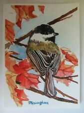 """Enchanted Woods By Terry Doughty Chickadee  Print 12/"""" x 7.75/"""""""