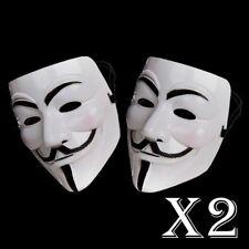 2 X ANONYMOUS HACKER V FOR VENDETTA GUY HORROR DRESS HALLOWEEN FACE MASK