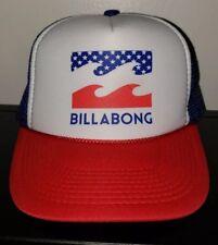 New listing Rare New ~ Vtg Billabong Usa Flag Red White Blue Trucker Snapback Otto Hat Cap
