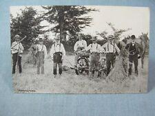 Threshing Machinery Harvest Postcards 1910