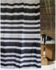 Rings Black Shower Curtain Set Shower Curtains