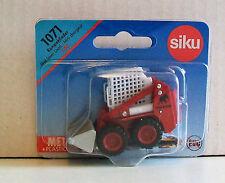 Skid Steer Cargador Siku 1071 en miniatura 6cm largo Diecast Metal y piezas de plástico