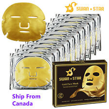 10PC Bio-Collagen Gold Facial Mask Pad Anti-wrinkle Aging Skin Hydrating Patch