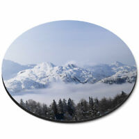 Round Mouse Mat - Vogel Slovenia Ski Resort Skiing Snow Skier Office Gift #24402