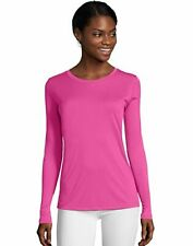 Hanes Long-Sleeve T-Shirt Sport Cool DRI Womens Performance Tee Activewear S-2XL