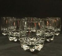 Vintage whiskey glasses. Set of 6. Juice glasses . 7 ounce. Fluted bottoms.