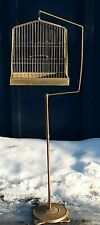 Antique Hendryx Metal Bird Cage & Stand Antique Parakeet Cage