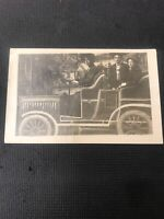 Vintage postcard Rppc Lady Driving Auto With Two Passenger Used  I01
