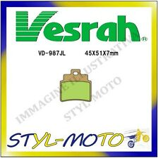 VD-987SJL PASTIGLIE FRENI POSTERIORI SINTERIZZATE VESRAH KYMCO MONGOOSE 300 2006