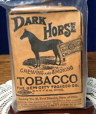 S17 Vintage Dark Horse Tobacco Package Great Graphics