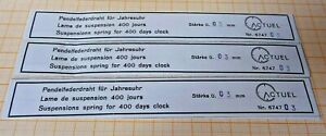 Pendelfederdraht für Jahresuhr Suspensionspring for 400 days Clock Stärke 0,03mm