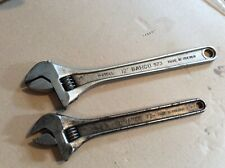 """Bahco Adjustable Spanners - 12"""" & 10"""" - Sweden"""