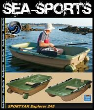 Bic Sportyak Explorer 245 Ruderboot Angelboot Boot grün inkl. Ruder