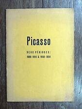 Aragon - Picasso, deux périodes : 1910-1914 & 1950-1954 Catalogue d'Exposition