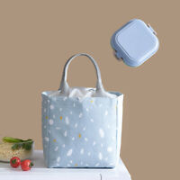 Thermal Insulated Lunch Bag Food Storage Bag Portable Travel Working Bento Box