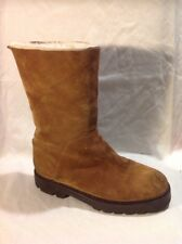 Weekend By Max Mara Brown Mid Calf Suede Boots Size 7