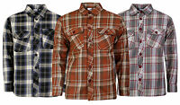 Mens Boys Quilted Lined Lumberjack Y/D Check Padded Flannel Winter Work Shirt