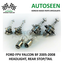 For FORD FPV FALCON BF '05-08' CAR HEADLIGHT 2xH4 / 2xH7 / 2xREAR STOP/TAIL S25