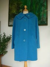 """Vintage 1960's """"Kashmoor Always in Fashion"""" Blue Wool Lined Coat Bust 38"""""""