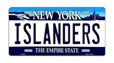 Metal Vanity License Plate Tag Cover - New York Islanders - Hockey Team