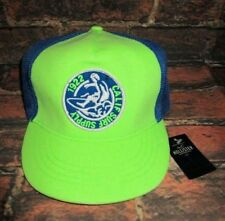 MENS HOLLISTER NEON GREEN SURF HAT ADJUSTABLE CAP ONE SIZE