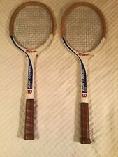 2 Wilson Jimmy Connors Tennis Ace Racquet Wood Vintage