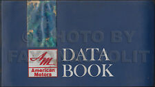 1967 AMC Dealer Data Book Original Rambler Rebel Ambassador Marlin Dealer Album