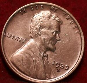 1933-D Denver Mint Copper Lincoln Wheat Cent