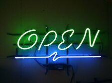 "Open Cafe Coffee Neon Sign 17""x14"" Pub Beer Light Bar Glass Artwork"