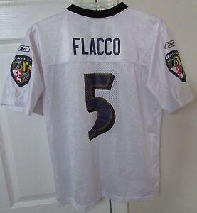 NFL Baltimore Ravens Joe Flacco #5 Replica Jersey by Reebok Team Youth Large (14