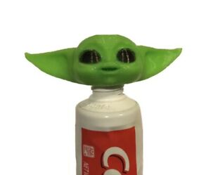 Baby Yoda Toothpaste Vomit Topper Dispenser Cap 3D Printed Fits Major Brands