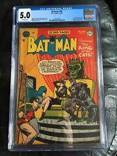 BATMAN #69 CGC VG/FN 5.0; OW; Catwoman bondage cover, scarce!