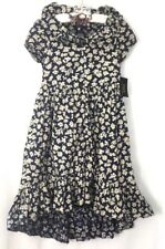 Polo Ralph Lauren Niñas Vestido 2 pieza primavera impresión Ditsy Floral Azul Crema 8