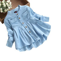 Toddler Girls Tops Long Sleeve T-Shirt Dress Kids Baby Children Blouses Oufits 8