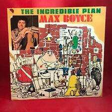 MAX BOYCE The Incredible Plan 1976 UK vinyl LP EXCELLENT CONDITION  Live b