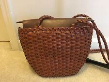 Ellepi Genuine Woven Leather Purse Handmade Italy