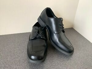 MEN'S BLACK DRESS SHOES - Matte finish square toe oxford style - most sizes