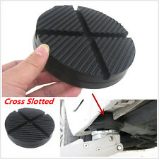 Cross Slotted Frame Rail Floor Jack Disk Rubber Pad Adapter for Pinch Weld Side
