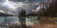 """Spirit Island at Maligne Lake"" Phillip Philbeck Giclee Print on Paper"