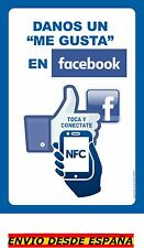 BAJAMOS PRECIO! Cartel Inteligente NFC con chip by akrocard-Me gusta en Facebook