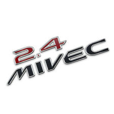 "Badge Emblem Logo ""2.4 MIVEC"" Red Trim For Mitsubishi Space Wagon 2004 2012"