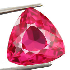13.30 CTS 100% AAA+ RICH SWEET PINK SAPPHIRE (Lab Created) Trillion rose saphir