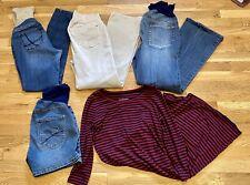 Lot of 5 Maternity Jeans Work Pants Oh Baby Motherhood  Liz Lange Dress Size S